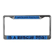 Rescue Dog Greater Swiss License Plate Frame