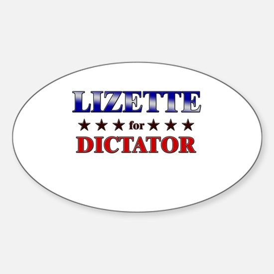 LIZETTE for dictator Oval Decal