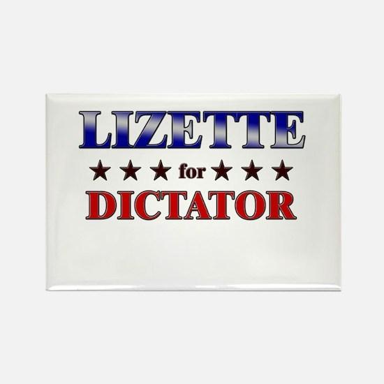 LIZETTE for dictator Rectangle Magnet