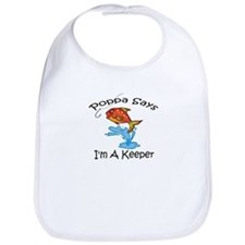 I'm A Keeper Poppa Bib