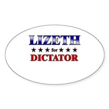 LIZETH for dictator Oval Decal