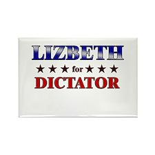 LIZBETH for dictator Rectangle Magnet