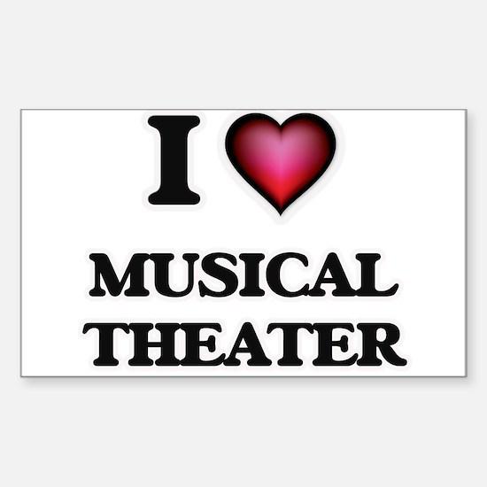 I Love MUSICAL THEATER Bumper Stickers