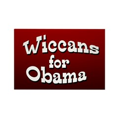 Wiccans for Obama Rectangle Magnet