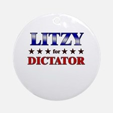 LITZY for dictator Ornament (Round)