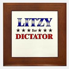 LITZY for dictator Framed Tile