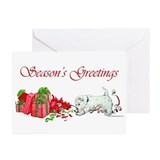 Westie christmas Greeting Cards (10 Pack)