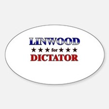 LINWOOD for dictator Oval Decal