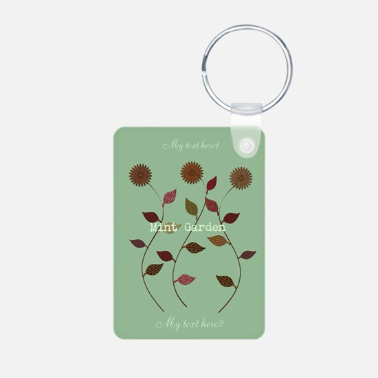 Cute Mint Garden Floral Keychains