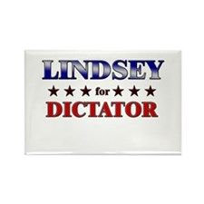 LINDSEY for dictator Rectangle Magnet