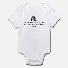 When a Zebra Talks Infant Bodysuit