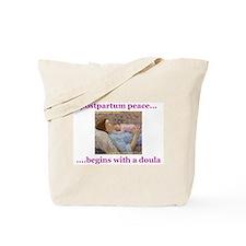 Postpartum Peace Doula Tote Bag