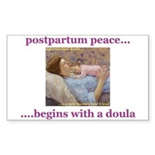 Postpartum Peace Doula Rectangle Decal