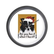 Australian Shepherd Do You Herd Wall Clock