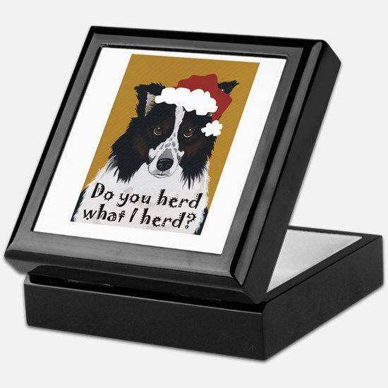 Australian Shepherd Do You Herd Keepsake Box