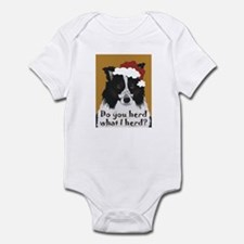 Australian Shepherd Do You Herd Infant Bodysuit