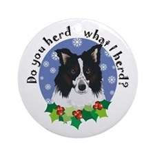 Australian Shepherd Do You Herd Ornament (Round)