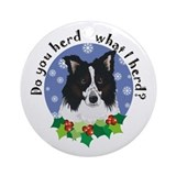 Border collie Round Ornaments