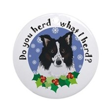 Australian Shepherd Do You Herd Ornament (Round)