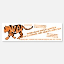 Tiger Facts Bumper Bumper Bumper Sticker