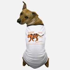 Tiger Facts Dog T-Shirt
