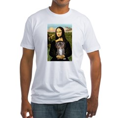 Mona / Shih Tzu(br&w) Fitted T-Shirt