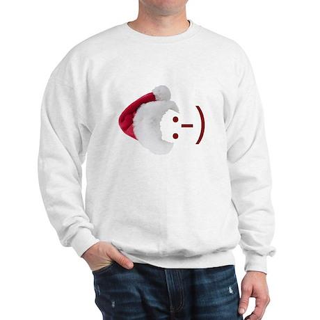Smiley Emoticon - Santa Hat Sweatshirt