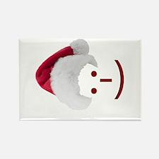 Smiley Emoticon - Santa Hat Rectangle Magnet