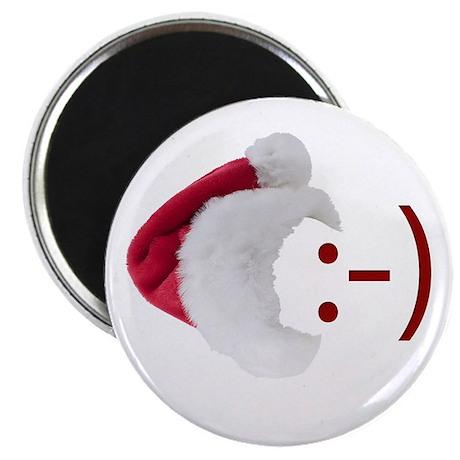 """Smiley Emoticon - Santa Hat 2.25"""" Magnet (100 pack"""