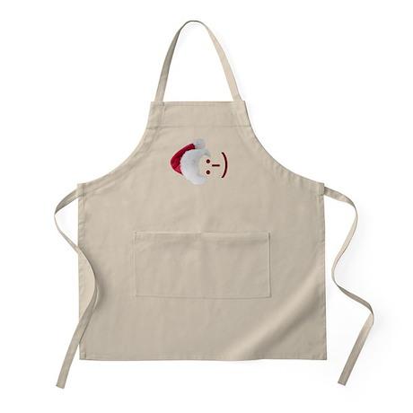 Smiley Emoticon - Santa Hat BBQ Apron
