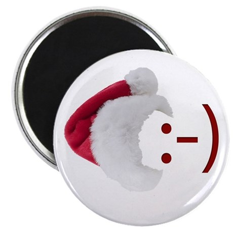Smiley Emoticon - Santa Hat Magnet