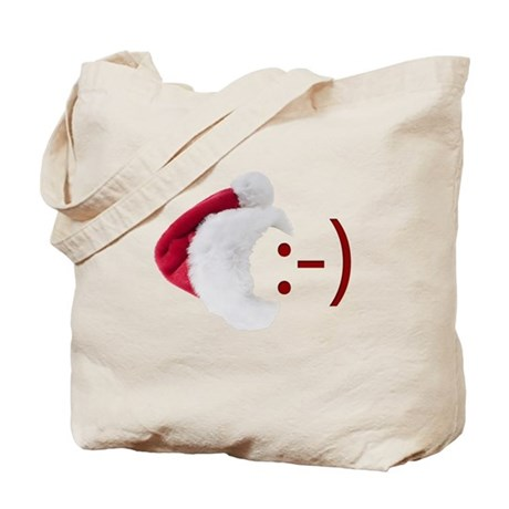 Smiley Emoticon - Santa Hat Tote Bag