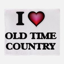 I Love OLD TIME COUNTRY Throw Blanket