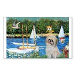 Bassin/Shih Tzu (P) Sticker (Rectangle)
