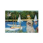 Bassin/Shih Tzu (P) Rectangle Magnet (10 pack)