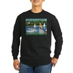 Bassin/Shih Tzu (P) Long Sleeve Dark T-Shirt