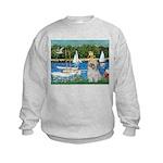 Bassin/Shih Tzu (P) Kids Sweatshirt