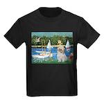Bassin/Shih Tzu (P) Kids Dark T-Shirt