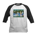 Bassin/Shih Tzu (P) Kids Baseball Jersey