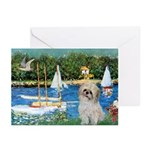 Bassin/Shih Tzu (P) Greeting Cards (Pk of 20)