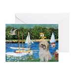 Bassin/Shih Tzu (P) Greeting Card