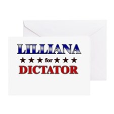 LILLIANA for dictator Greeting Card