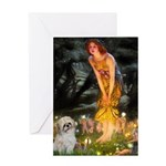 MidEve/Shih Tzu (P) Greeting Card