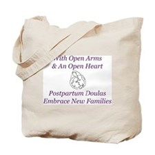 Postpartum Doulas Embrace Tote Bag