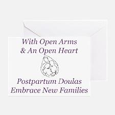 Postpartum Doulas Embrace Thank You Cards