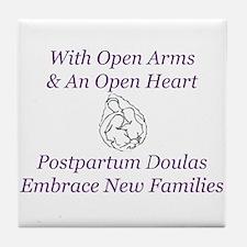 Postpartum Doulas Embrace Tile Coaster