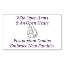 Postpartum Doula Embrace Rectangle Decal