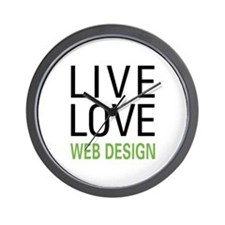 Live Love Web Design Wall Clock