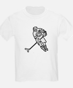 Hockey skater outline T-Shirt