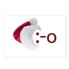 Oh! Emoticon with Santa Hat Postcards (Package of